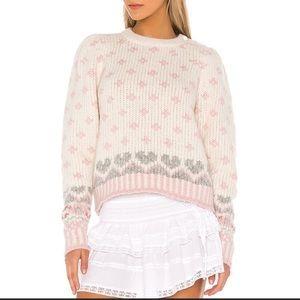 LoveShackFancy Rosie Sweater in Milky Cloud BNWT